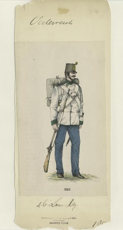 Austrian infantry in dress coat (not worn on campaign in 1859)