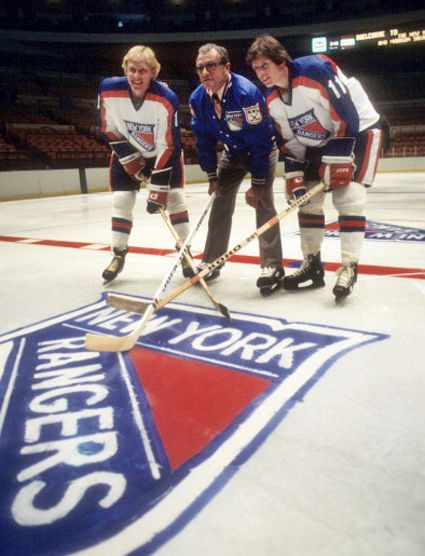 Anders Hedberg, Coach Fred Shero and Ulf Nilsson