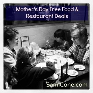 Find free Mother's Day Food & Restaurant deals and coupons to help mom eat free on Mother's Day (or at least enjoy a free treat!)