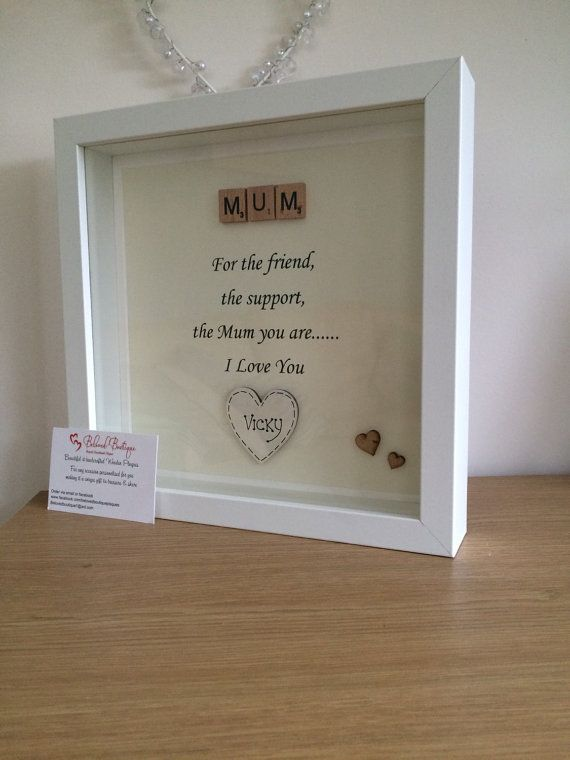 Mothers Day scrabble frame Can be personalised with several hearts Can be custom made just for you