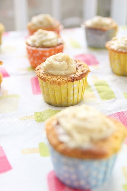 Paleo Figueroa Cupcakes: Chunky Lemon Fig Cake, Salted Honey Fig Compote, Cream Cheese Frosting
