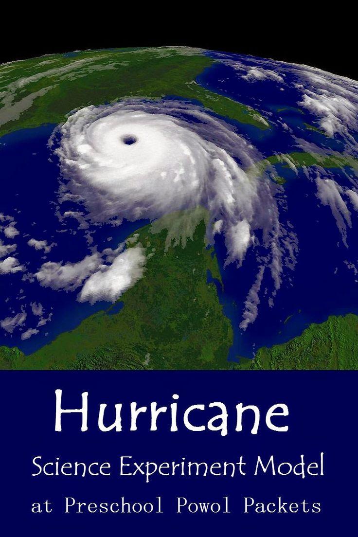 Hurricane Science Experiment Model!  Great for preschoolers!