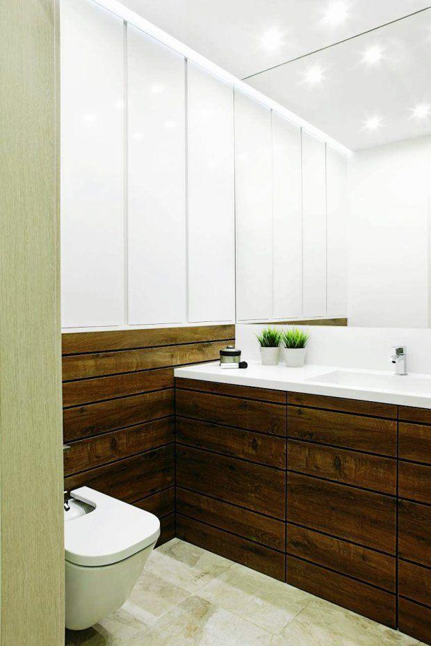 ŁĄCZĄ I DZIELĄ. Planując remont, gospodarze podjęli trudną decyzję o połączeniu łazienki z małą toaletą. Było warto, bo dzięki temu powstało...