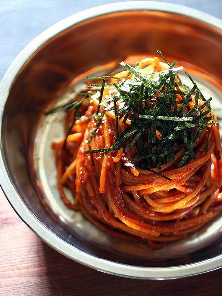 辛口!ビビン麺風スパゲッティ by HIGUCCINI / レシピサイト「ナディア / Nadia」/プロの料理を無料で検索