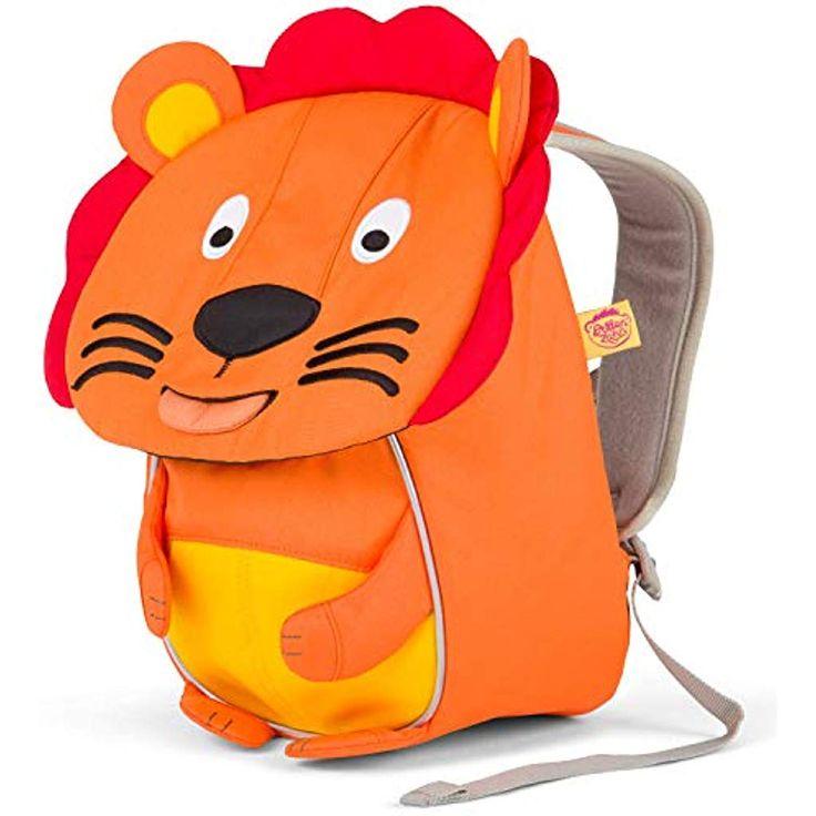 Affenzahn Kinderrucksack für 1-3 Jährige im Kindergarten – Lena Löwe – Orange…