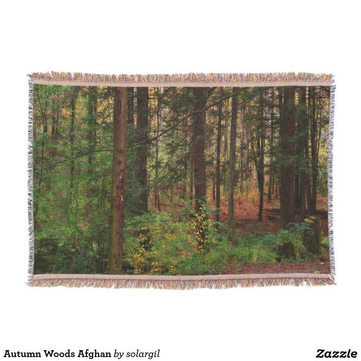 Autumn Woods Afghan Throw