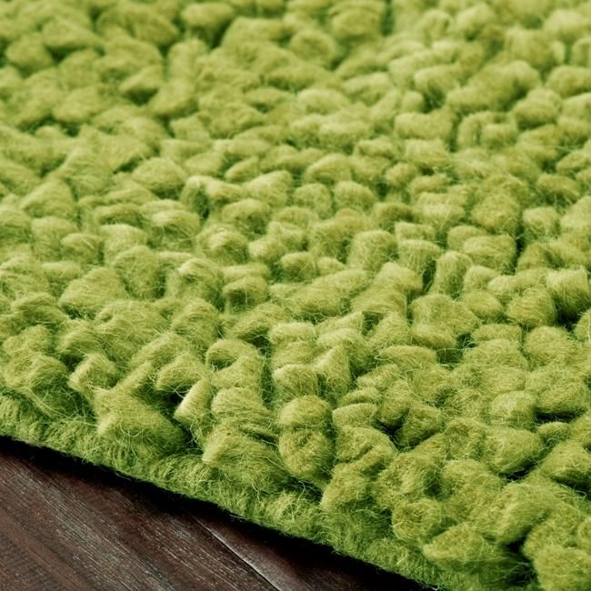 Hand Woven In India From New Zealand Felted Wool This Lime Green Rug Features