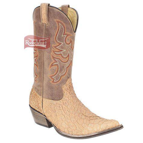 Bota Texana Exótica Bucho Bico Fino Masculina - West Country