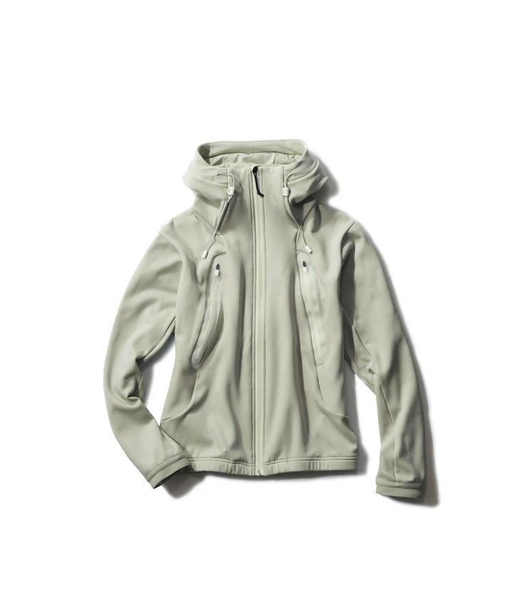 DIA2500U AERO-PACK STRETCH HOODIE KARUISHI(まるR)ストレッチナイロン素材を使用した非常にやわらかく肌触りのよいフード付きジャケット。スリーブカフつき。A very soft and comfortable hooded jacket with sleeve cuffs, made in Karuishi® stretch nylon material.