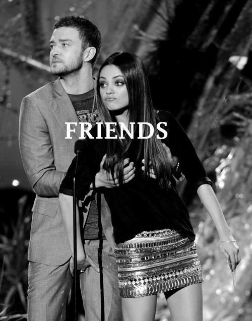 Justin Timberlake Mila Kunis. True friends