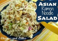 Asian Ramen Noodle Salad; a delicious salad for Summer! #salad #barbecue