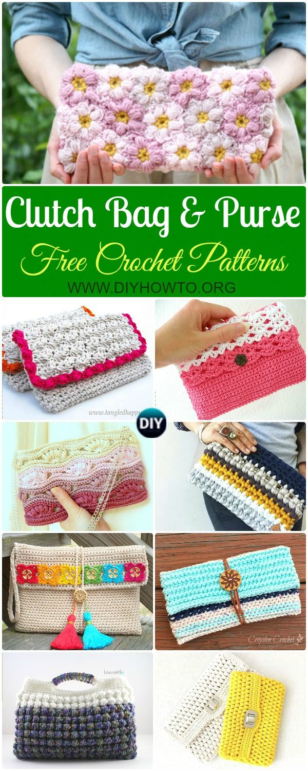 Best 25 crochet clutch bags ideas on pinterest crochet clutch collection of crochet clutch bag purse free patterns instructions crochet evening clutch bag bankloansurffo Choice Image