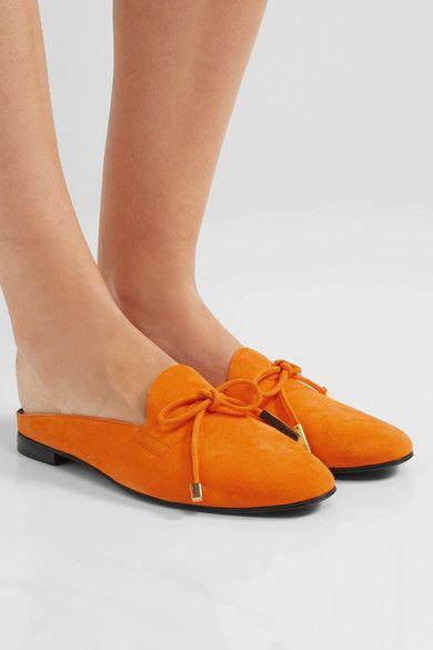 Pierre Hardy - Mademoiselle Jacno Suede Slippers - Bright orange - FR39.5