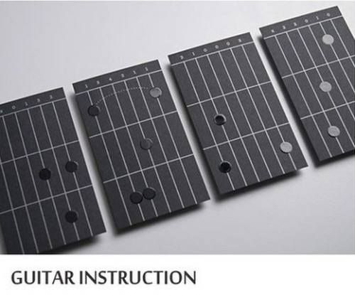 guitar instruction business card