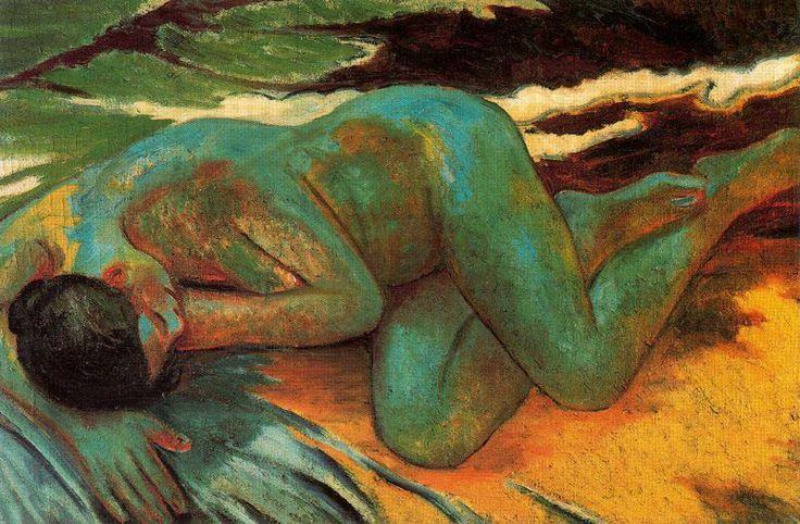 Michel Larionov, Desnudo azul, 1903. Óleo sobre lienzo, 73 x 116 cm, Museo Thyssen-Bornemisza.