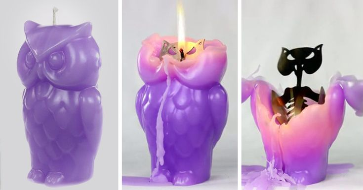 Owl Candle Reveals A Hidden Skeleton When It Melts | Bored Panda