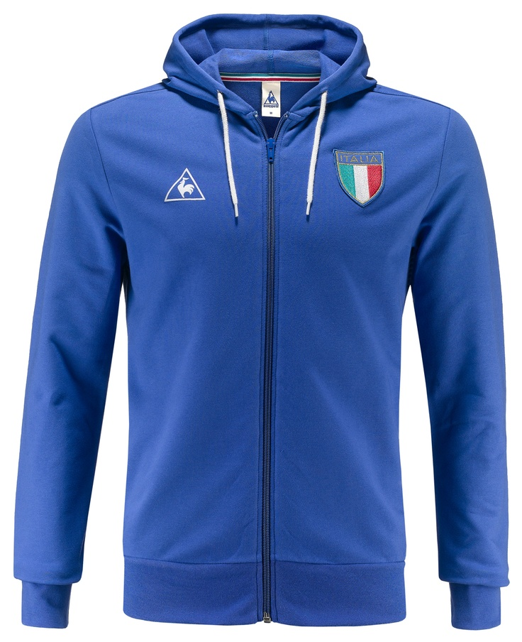 Felpa uomo Le Coq Sportif in edizione speciale per gli europei di calcio, con simbolo Le Coq Sportif ricamato e scudetto dell'Italia cucito sul petto. 95% cotone, 5% elastenae, con cappuccio e full zip. Exclusive edition.    Prezzo: 80.00€    SHOP ONLINE: http://www.athletesworld.it/felpa-le-coq-sportif-football-1982-le-coq-sportif-9199263