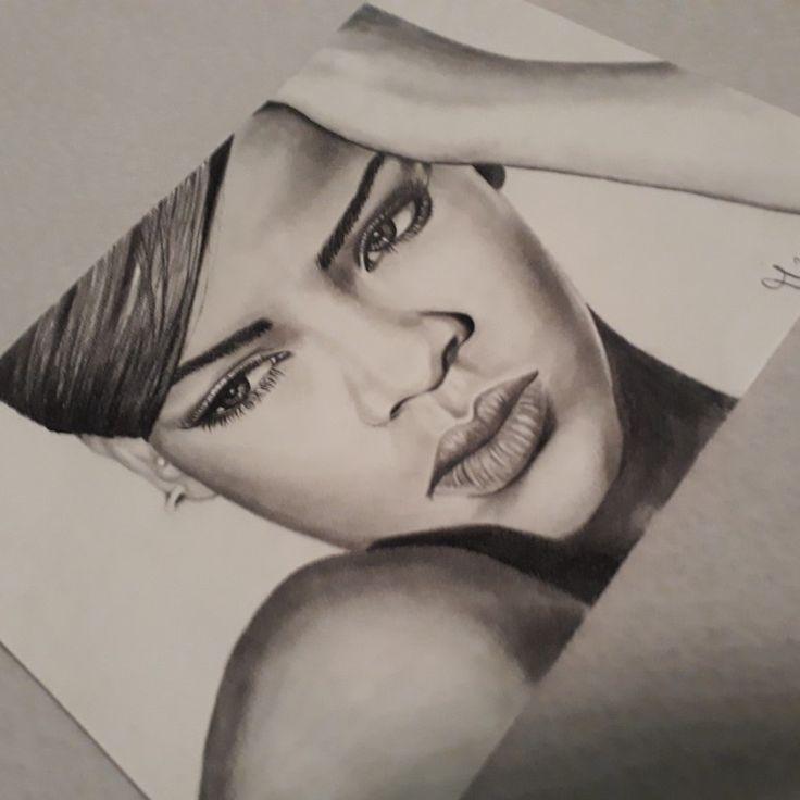 Pencil Drawing Rihanna by Tina  Mandarina Art @SyndiCat Tattoo Studio Vienna