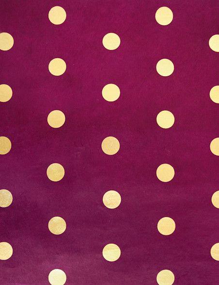 Lama Li Handmade Paper, Gold Polka Dots contemporary desk accessories