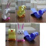 Kartondan Kuş, Civciv ve Tavşan yaptık..