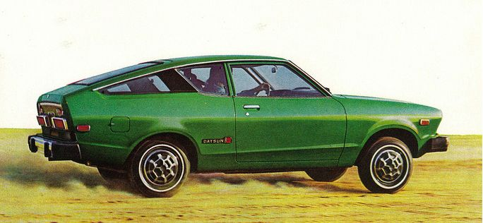 1976 Datsun B210 Hatchback - a family of four should NEVER take a cross-country vacation in this vehicle...I speak from experience.