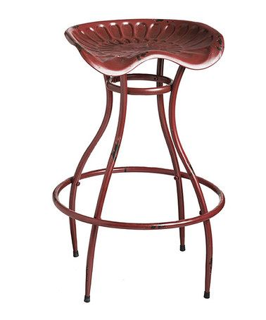 Loving This Red Metal Tractor Seat Stool On Zulily