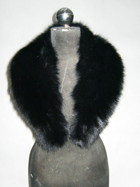 Luxury gift/Fox Fur/ Black  Collar  Women's/wedding or by skffurs