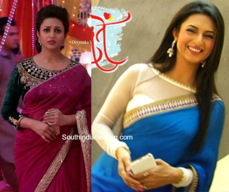 Divyanka Tripathi aka Ishita Bhalla Saree blouse designs in Yeh Hai Mohabbatein serial, Ishita blouse designs