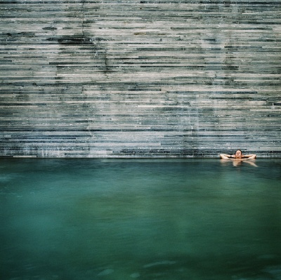 Thermal Baths in Vals, Switzerland | Peter Zumthor | photo by Simon Vahala: Peter O'Toole, Pool, Thermal Spa, Peter Zumthor, Switzerland, Baths Vals, Space