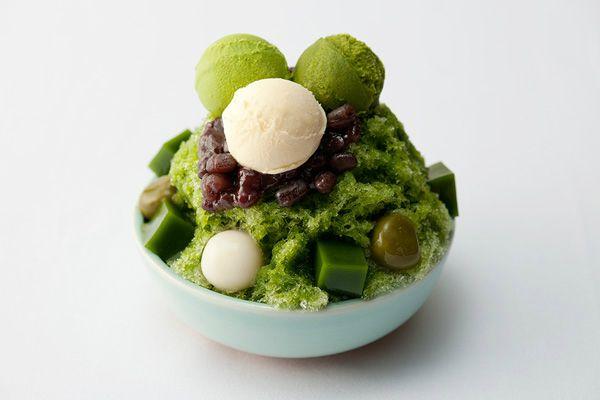 かき氷 kakigori with Matcha flavor