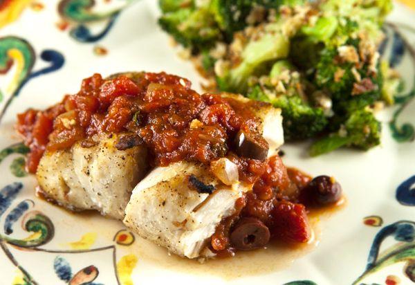 Italian Food Forever » Grouper Puttanesca