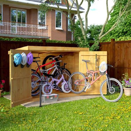 25 best ideas about bike storage solutions on pinterest for Bike garden storage solutions