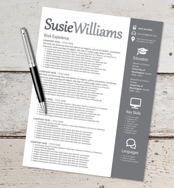 133 best Resume Designs images on Pinterest Design resume - teaching resume template microsoft word