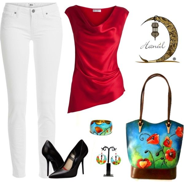 Papaveri by malusagd on Polyvore featuring moda, Amanda Wakeley, Paige Denim, Burberry, shopping, madeinItaly and veryitaly