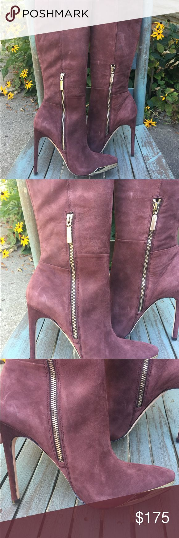 Women's Rachel Roy Eggplant Purple Tall Boots 8.5M Women's Rachel Roy Eggplant Purple Leather Tall Heeled Boots Size 8.5M. These are brand new, needs tags! Super sexy! Amazing fall colors Rachel Roy Shoes Heeled Boots