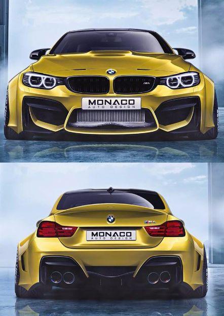 Gold BMW M4 with Wide Body Kit by Monaco Auto Design @thistookmymoney
