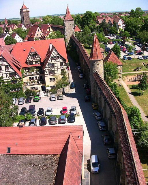 Rothenburg ob der Tauber, Blick auf die Stadtmauer