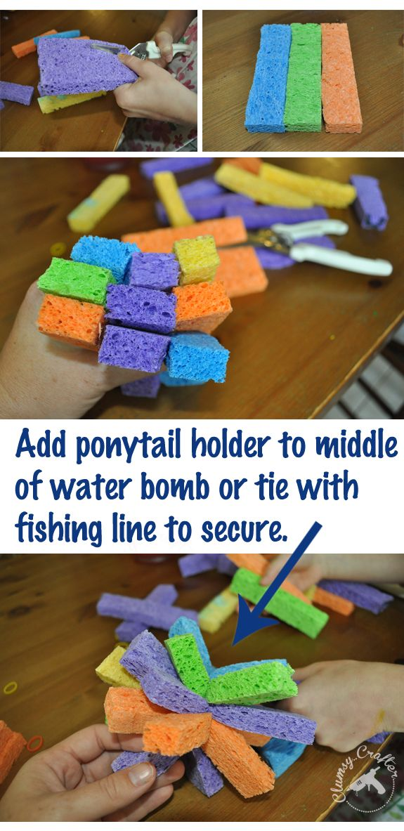 How to make homemade Water Bombs from Clumsy Crafter Homemade Water Bombs