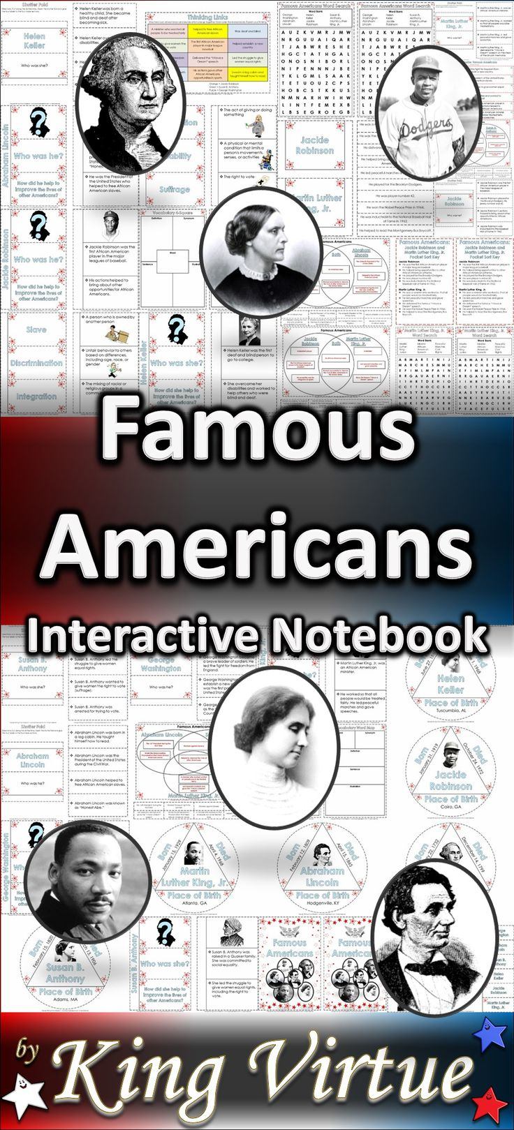 Preposition In Learn In Marathi All Complate: Famous Americans: Interactive Notebook BUNDLE