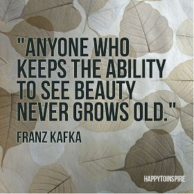 Anyone who keeps the ability to see beauty never grows old -Franz Kafka #quote