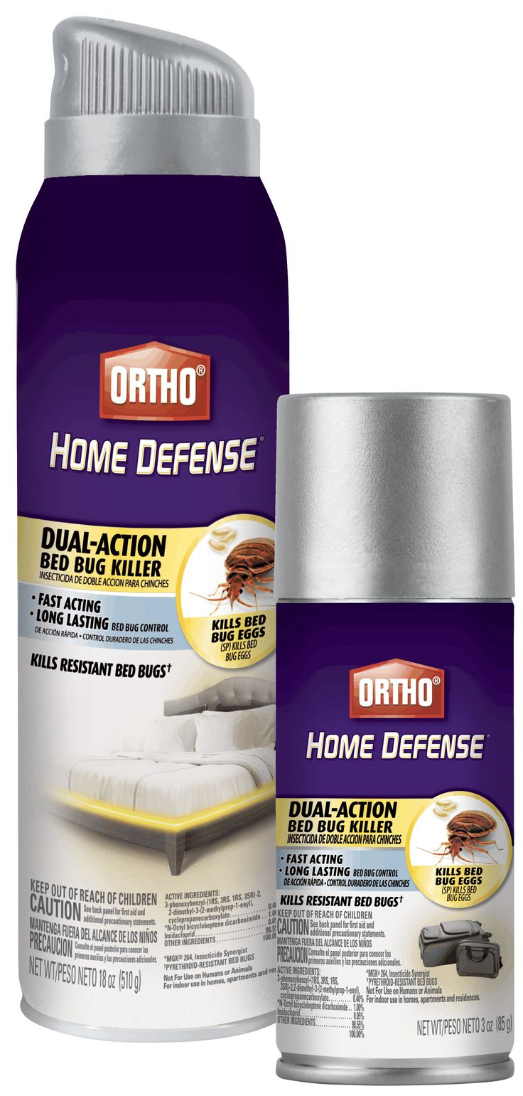 Ortho Home Defense Dual-Action Bed Bug Killer kills resistant bed bugs fast and is a great choice for long lasting bed bug control.