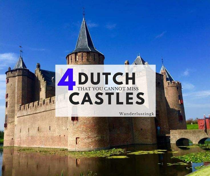 The Netherlands has some beautiful castles perfect for a day trip from Amsterdam or Utrecht. Here are the best 4 Dutch castles ranging from the small and intimate to the large and epic to inspire you in your travels in the Netherlands or Europe. For European castle lovers!