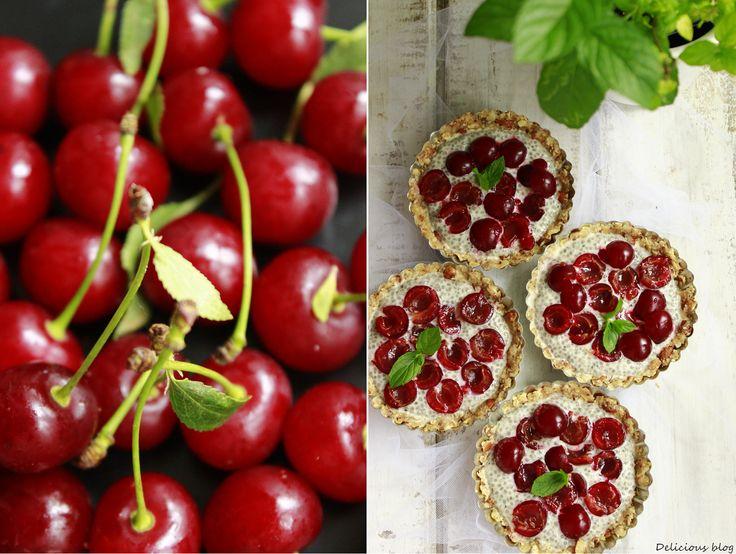 Delicious blog: Višňové tartaletky s chia pudinkem
