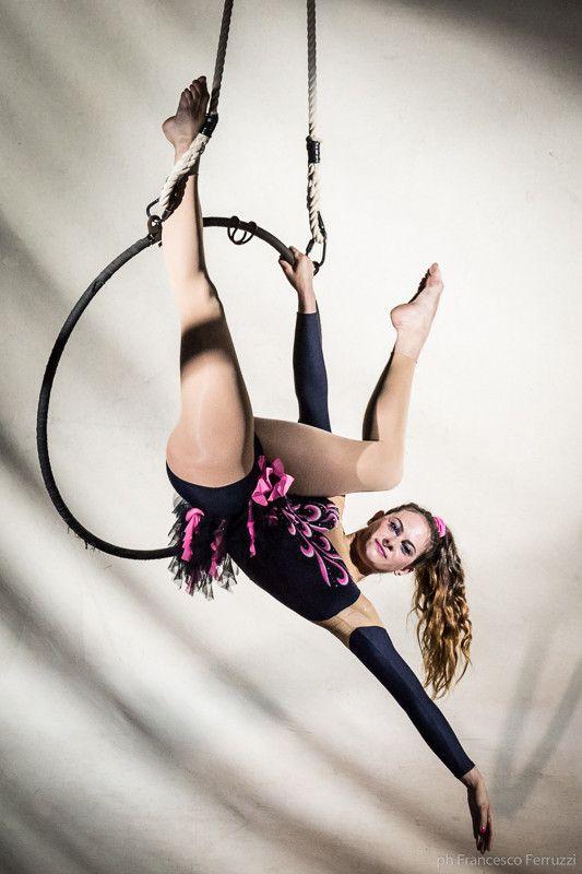 la #ginnastica aerea #saggio #circo #cerchio