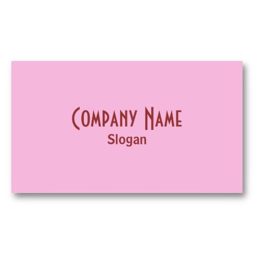 18 best solid color business cards images on pinterest business strawberry pink business card reheart Image collections
