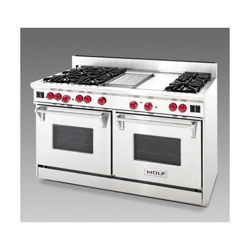 Contemporary Range From Wolf Model 4 Burners Griddle