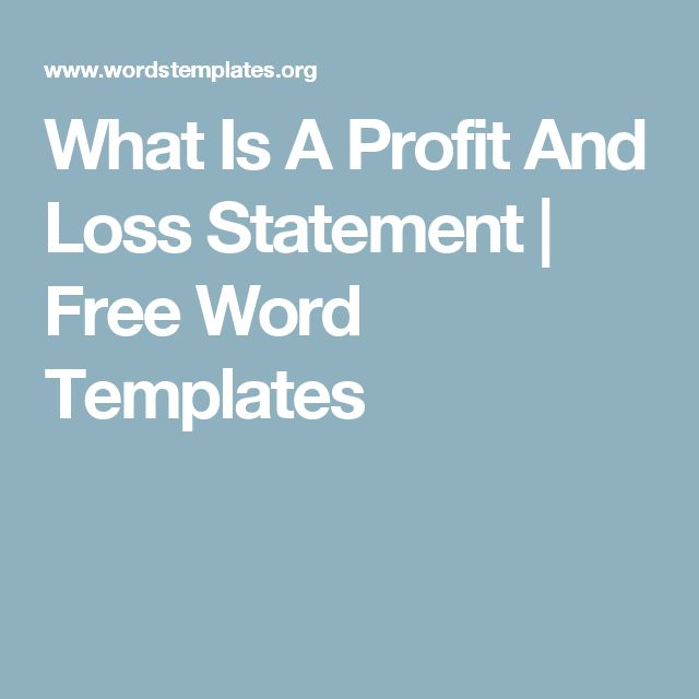 What Is A Profit And Loss Statement Free Word Templates - blank profit and loss statement free