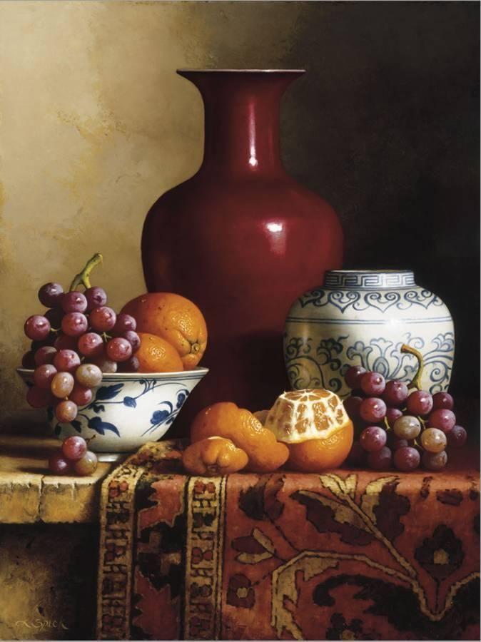 Oriental Still Life I Stretched Canvas Print Loran Speck Art Com In 2021 Painting Still Life Still Life Painting
