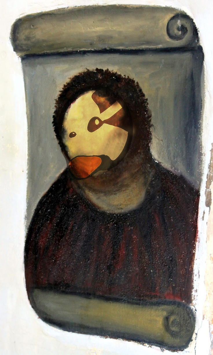 Ecce Goose. Cecilia ha pasado por aquí y ha hecho esta obra de arte con nuestro Goose. Ecce Homo