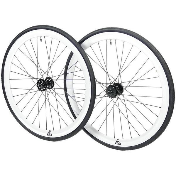Shop Mantra wheelset with flip-flop hub. Ride fixed-gear or single-speed starting at $119.99. Available in many colors for customization. Let's ride.